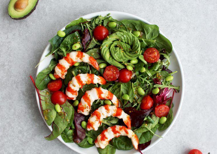 Salat Mit Surimi Garnelen Und Avocado Mit Honig Senf Sauce Vici